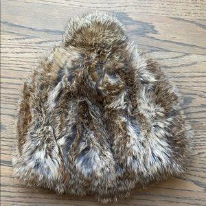100% Rabbit Fur Pom Hat